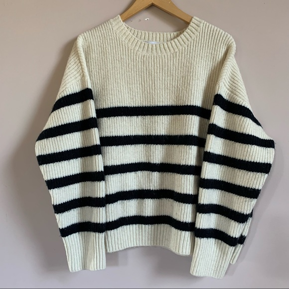 Oversized Striped Knit Zara Sweater